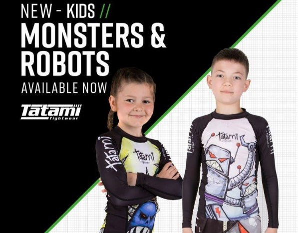 Tatami Kids Robots and Monsters Rashguards and Shorts