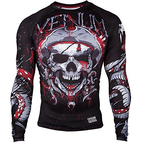 Venum - venum pirate 30 rashguard long sleeves m blackred medium