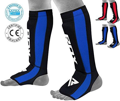 Best Shin Guards Reviewed - rdx neoperene mma shin instep pads leg guard muay thai boxing training 5