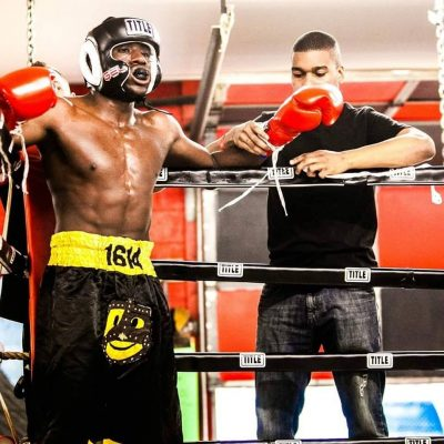Brima Kamara competes in the Amateur Ranks
