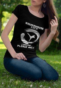Roundhouse Kick Loading Please Wait T-shirts
