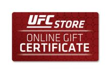 UFC Store Gift Certificate $10-$200