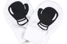 Boxing Gloves Design 100% Organic Cotton Scratch Mittens